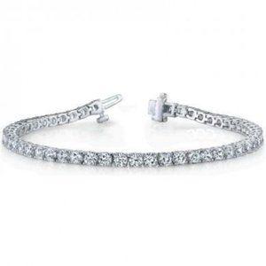 4 Ct Diamond Tennis Bracelet Solid White Gold 14K